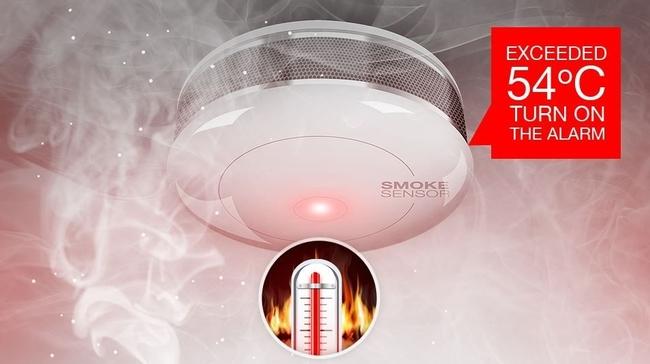 senzor de fum si temperatura