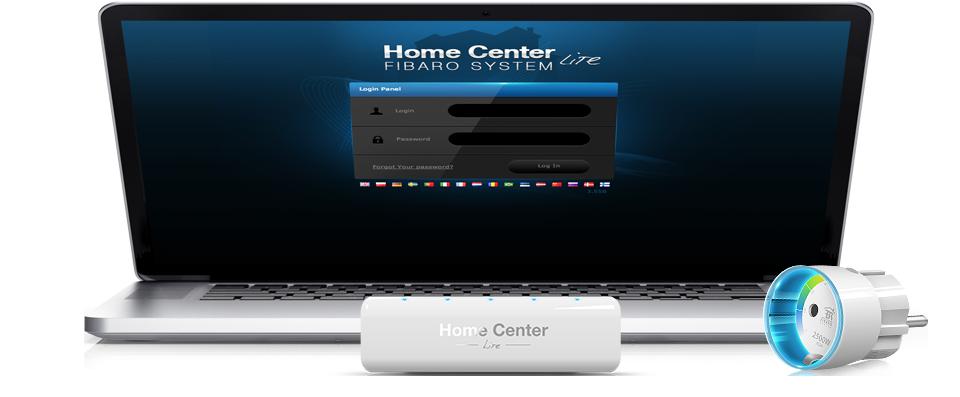 Fibaro Home center Lite Interfata